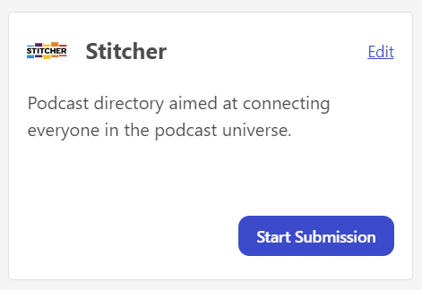 Distribute my podcast on Stitcher from Firstory Studio
